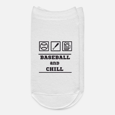 Baseball Baseball And Chill - Baseball - Ankle Socks