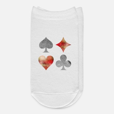 Cards Playing Cards Cards Deck Of Cards Symbols Gift - Ankle Socks