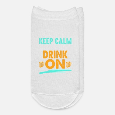 Wife Keep Calm and Drink on! Funny t-shirt. - Ankle Socks