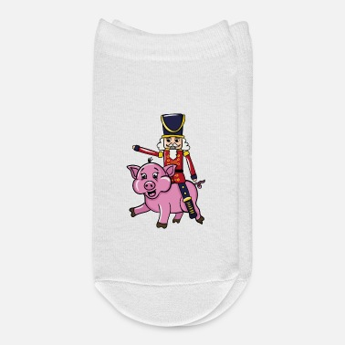 Nutcracker Doll Riding Pig - Ankle Socks