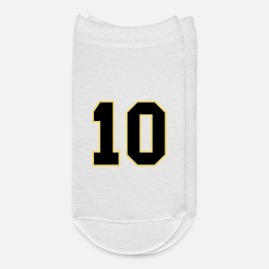 Jersey Number 10 Football Jersey Number - Ankle Socks