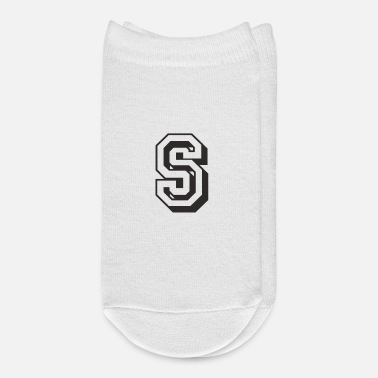 Initial Letter S in college font University Uni USA - Ankle Socks