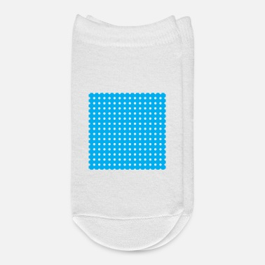 Blue White White dots blue - Ankle Socks