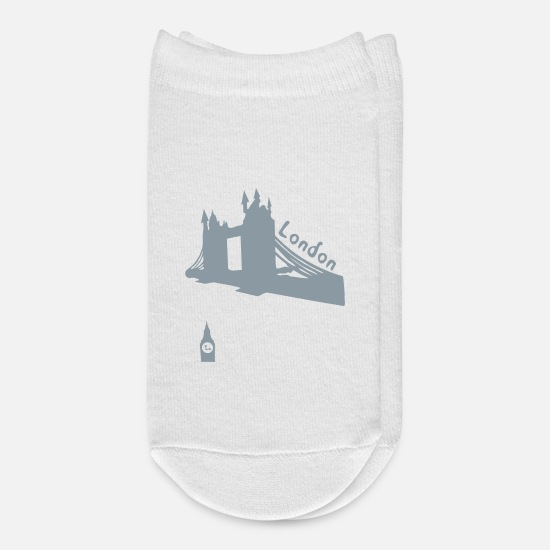 Love Socks - London BigBen vector graphic art - Ankle Socks white