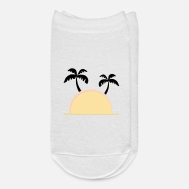 Palm Trees Sunset with palm trees, summer, vacation - Ankle Socks