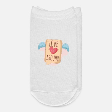 All Design Love is all around valentine's day design - Ankle Socks