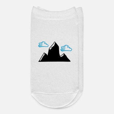 Switzerland Mountain with clouds - Ankle Socks