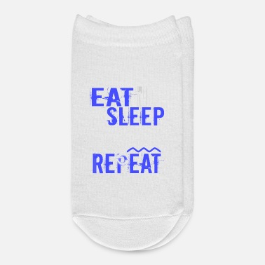 Float Tank Float Therapy Eat Sleep Float Repeat - Ankle Socks