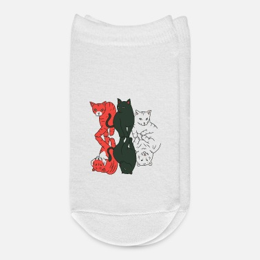 House Tiger Cats and wild cats funny house tiger design - Ankle Socks