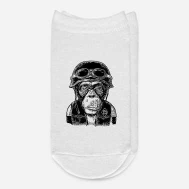 Motorcycle Monkey in the motorcycle helmet - Ankle Socks