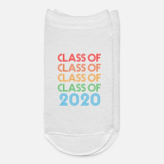 Senior Socks - Senior 2020 Class Of 2020 Graduate - Ankle Socks white