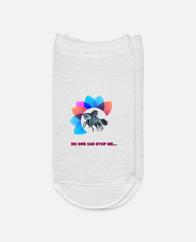 Can Socks - No one can stop me - Ankle Socks white