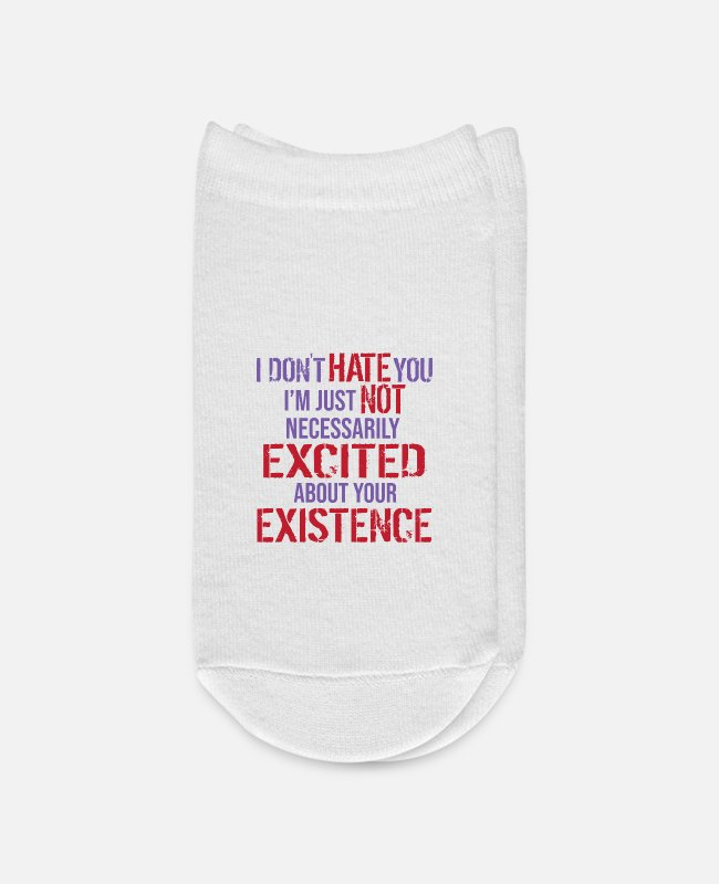 Black Humor Socks - I hate people thats why i love social distance - Ankle Socks white