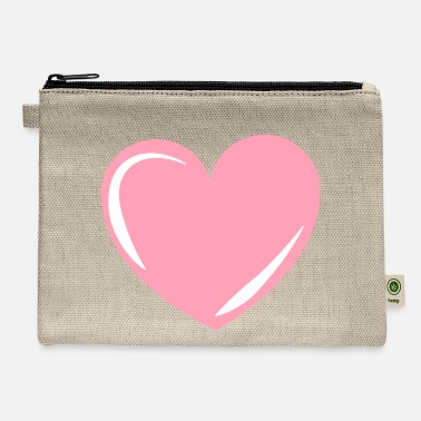 Pink Heart Pink Heart, heart, love, pink, valentines - Carry All Pouch