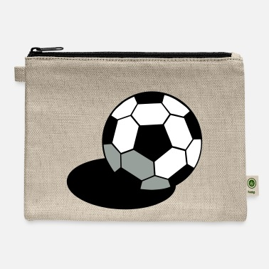 Inflated Oval SOCCER FOOTBALL BALL WITH A SHADOW - Carry All Pouch