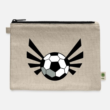 Moleskin SOCCER BALL world cup with an awesome blaze ! - Carry All Pouch