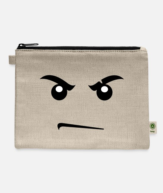 Building Bags & Backpacks - Toy face angry - Carry All Pouch natural