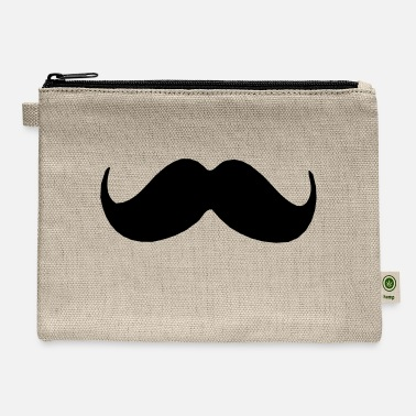 Cool-cute-stylish-mustaches ۞»♥Stylish Upswept Mustache-Vector Design♥«۞ - Carry All Pouch