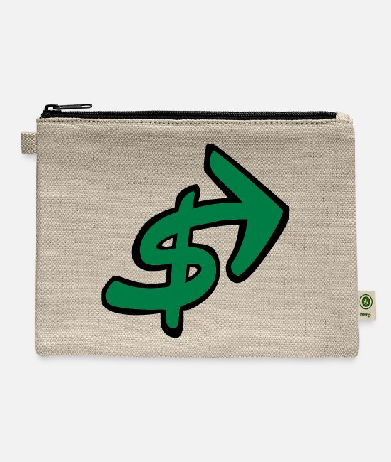 Arrow Bags & Backpacks - Dollar Sign With Arrow - Carry All Pouch natural