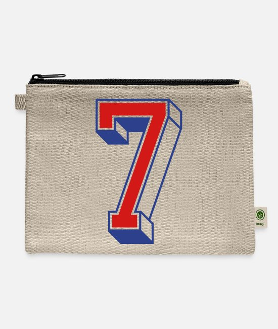 Design Bags & Backpacks - Vintage Jersey number 7 - Carry All Pouch natural