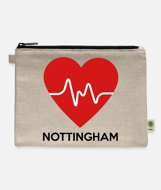 Nottingham Bags & Backpacks - Heart Nottingham - Carry All Pouch natural