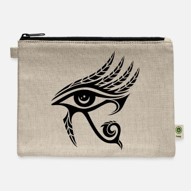 Ancient Horus Eye, Feathers, Ra, Ancient Egypt, Symbols - Carry All Pouch