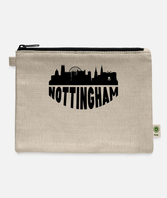 Nottingham Bags & Backpacks - Nottingham England Cityscape Skyline - Carry All Pouch natural