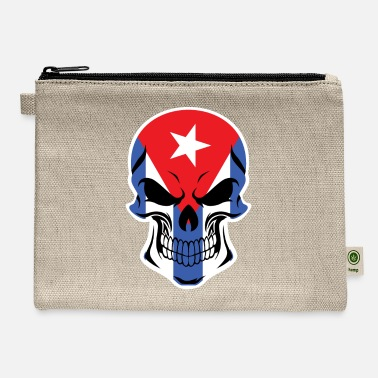 Cuban Roots Design Cuban Flag Skull - Carry All Pouch