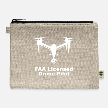 Faa Licensed Drone-pilot FAA Licensed Drone Pilot square logo - Carry All Pouch