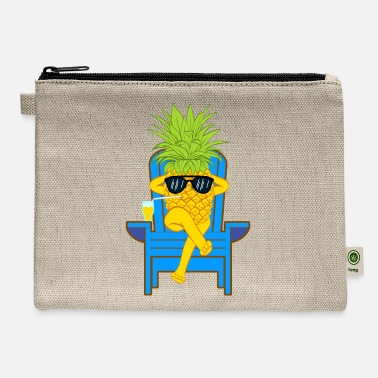 Moleskin Fruit Cool Pineapple With Sunglasses Graphic - Carry All Pouch