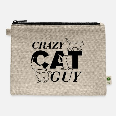 Crazy Cat Guy - Carry All Pouch