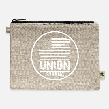 Union Strong Vintage USA Flag Proud Labor Day - Carry All Pouch
