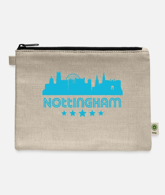 Nottingham Bags & Backpacks - Retro Nottingham Skyline - Carry All Pouch natural