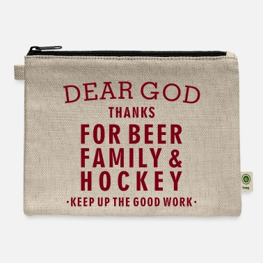 Hockey Lover Hockey Lover - Beer, Family, Hockey - Carry All Pouch