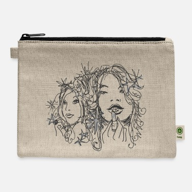 Drawen Girl with lipstick - Carry All Pouch
