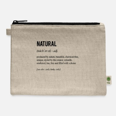Natural Hair Definition - Black - Carry All Pouch