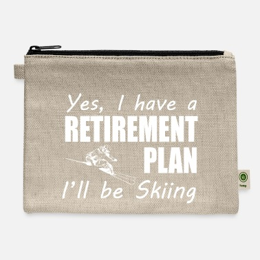 Skiing I Have A Retirement Plan I ll Be Skiing T Shirt - Carry All Pouch