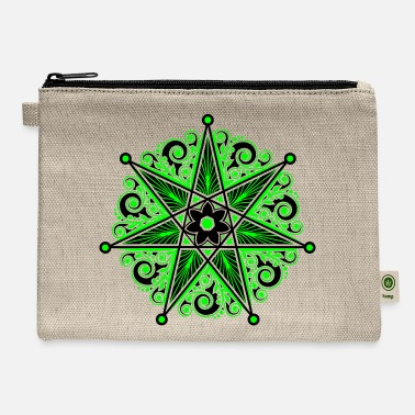 Girl Elven Elf Elven Star, Heptagram, Perfection & Protection - Carry All Pouch