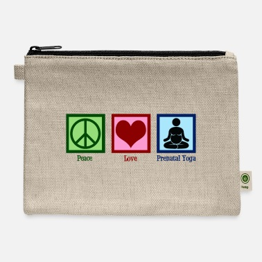 Pregnant Yogi Peace Love Prenatal Yoga - Carry All Pouch