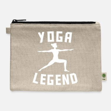 Funny Yoga Yoga Legend Warrior Two Silhouette Funny Yoga - Carry All Pouch