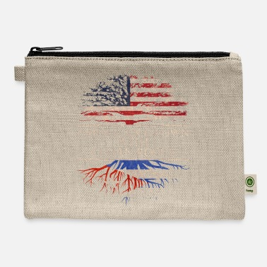 Cuban Roots Design American grown with cuban roots - Carry All Pouch