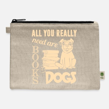 All I Need Is My Book And My Dog All You Really Need Are Books And Dogs T Shirt - Carry All Pouch