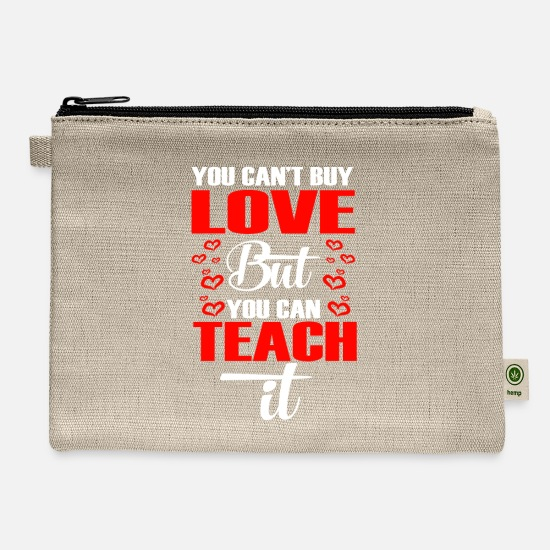 Teacher Bags & Backpacks - T-Shirt For Teacher. Costume From Kids. - Carry All Pouch natural