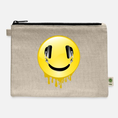 Smiley Headphones SMILEY Headphones - Music DJ Gift - Carry All Pouch