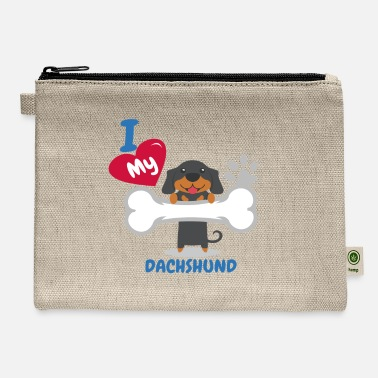 Dachshund DACHSHUND - I Love My DACHSHUND Gift - Carry All Pouch