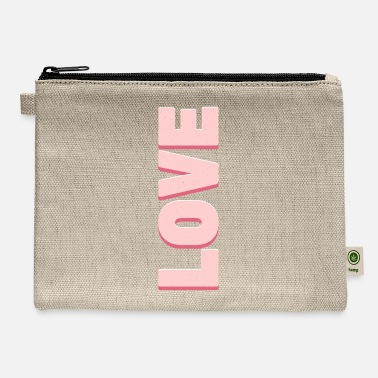 Love Love Pink - Carry All Pouch