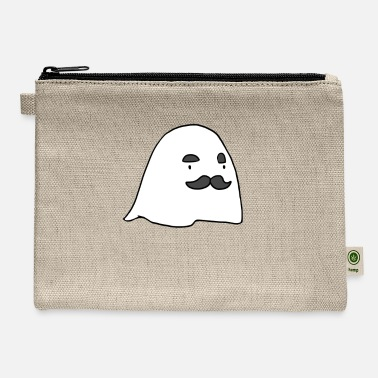 Cool-cute-stylish-mustaches Herbert The Ghost - Carry All Pouch