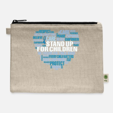 Child Child Abuse Prevention Support Word Cloud - Carry All Pouch