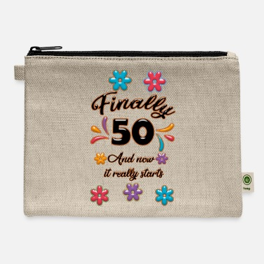 Birthday 50 birthday present 50 years old T-shirt - Carry All Pouch