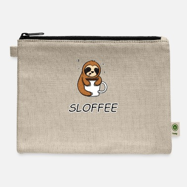 Oversleep Funny Sloth Saying Sloffee Morning Grumpy Coffee - Carry All Pouch